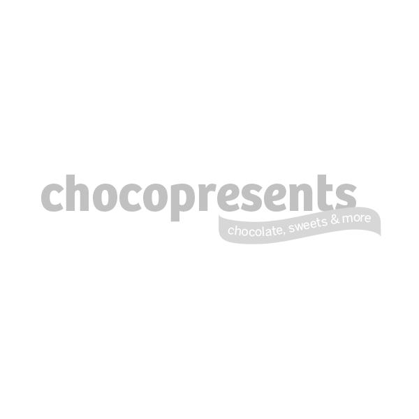 Rode vensterdoos kerstchocolade